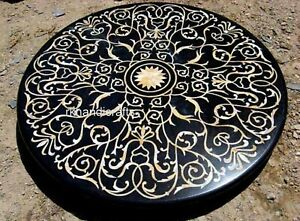 72 Inches Marble Dining Table Top Stone Hallway Table Inlay Work Floral Design
