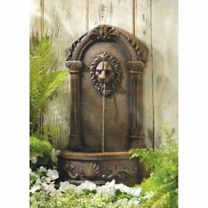 Large Polyresin Fountain Outdoor Decor Sculpture Carved Lion Antique Pool Pump