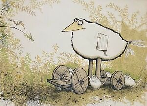 """Ronald Searle Original Lithograph Signed & Numbered """"Happy Birthday"""" 1974"""
