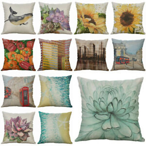 Succulent Home case Decor Printing Cotton Cover 18quot; Linen beach Pillows $3.15