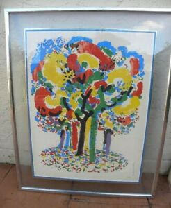 LARGE RONALD JULIUS CHRISTENSEN GORGEOUS LITHOGRAPH SIGNED BY ARTIST