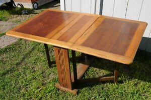 1800s 1900s Handmade Rare Antique Folding Drop Leaf Table Serving Table 5x3 $600.00