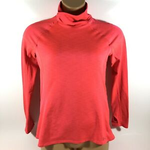 Under Armour Cold Gear Mock Long Sleeve Base Layer Warm Shirt Red Womens Large L $17.99
