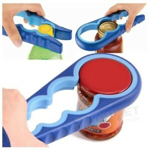 4in1 Jar Opener Easy Grip Multi Size Container Bottle Lid Can Opener Kitchen $9.99