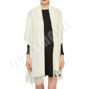 Womens Oversized Scarf Cream Solid Plain Shawl and Wrap Blanket $9.98
