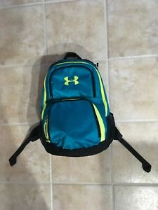 Under Armour Backpack School Bag 1217557 Teal W Neon Yellow Accents $25.00