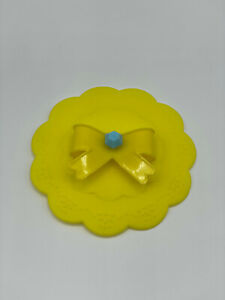 Brand New Cute Yellow Ribbon Japanese Silicone Cup Cover