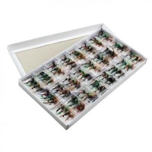 96pcs set Fly Fishing Flies Assortment Dry Bass Trout Fly Fishing Lure Hook Kits $12.99