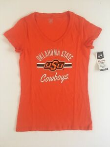 Oklahoma State Cowboys College Football Shirt Women's Short Sleeve Size Large $4.99