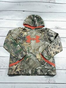 Under Armour Hoodie Hooded Sweatshirt RealTree Camo YOUTH BOYS GIRLS large I9 $20.00