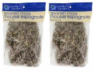 New Floral Spanish Moss for Artificial Floral Arrangements 125 Cu. in. Qty 2