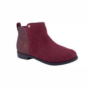 Wonder Nation Youth Girls Blocked Ankle Boots Sizes 1 2 Med $12.99