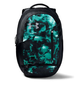 Under Armour UA HUSTLE 4.0 Storm™ Black Teal Camo Zip Backpack Book Bag $42.00