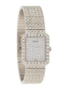 PIAGET Limelight Protocole Watch 18K White Gold 7.00ct Weight Size 6.0 GIA Cert.