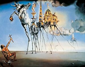The Temptation of St. Anthony by Salvador Dali Art Print Poster 11x14 inches $8.99