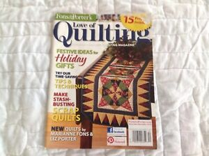 Fons And Porter Love Of Quilting November Decembef 2012 $3.99
