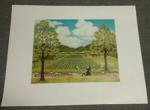 Diane Wolcott lithograph farming carrots children signed numbered 3131000 art