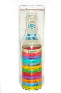 FRED Beer Bands BEERB 12 Pack Assorted Colors NEW in Package