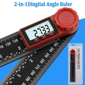 7in 200mm Digital Protractor Angle Finder Ruler for Crown Trim Woodworking CS $11.79