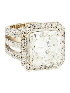 ENGAGEMENT RING 18K Gold 11.29ct Diamond Size 5.25, 170 Stone Count