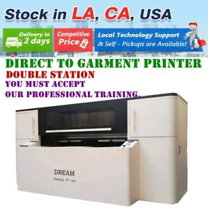 USA 110V Double Station Direct to Garment Printer DTG T-shirt Printing Machine
