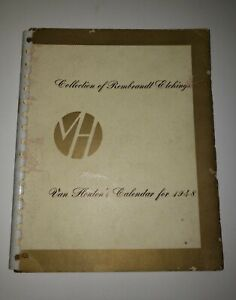 Van Houten#x27;s Calendar For 1948 Collection of 54 Rembrandt Etchings AB $119.95