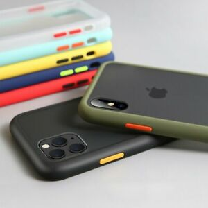 Case For iPhone 12 Pro Max 12 mini 11 Pro Max Matte Thin Bumper Shockproof Cover
