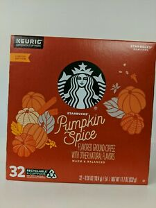 Starbucks Pumpkin Spice Coffee K-Cup Pods Limited Edition New. 32 ct.BB 05/08/20