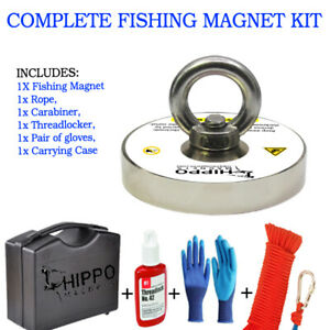 COMPLETE FISHING MAGNET SET KIT WITH 1000 LBS PULL FORCE NEODYMIUM MAGNET $39.99