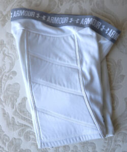 Under Armour Girls Fastpitch Softball Slider Shorts White Size Youth XS S $12.00