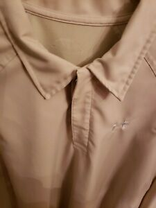 UNDER ARMOUR GOLF LONG SLEEVE POLO SHIRT SIZE Large active look $21.99