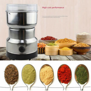 Electric Spice Coffee Nut Seed Herb Grinder Crusher Mill Blender Steel 110V USA