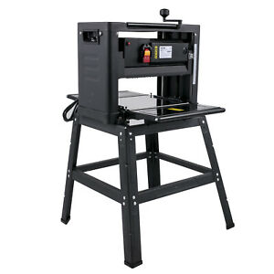 Thickness Planer With Stand 12.5 Inch Double Cutter Heavy Duty Dust Exhaust