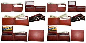 Lot of 12 New style leather man's wallets 2 suede lined billfolds Credit card ID