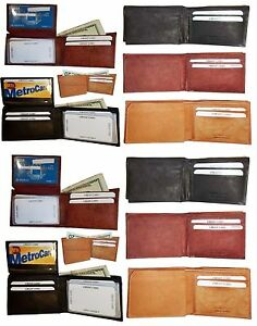 Man's wallets Lot of 12 New style leather 2 suede lined billfolds Credit card ID