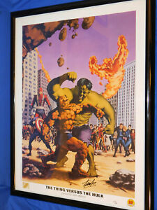The Thing Versus Hulk Lithograph By John Watson Signed By Stan Lee Marvel 2099 $199.99