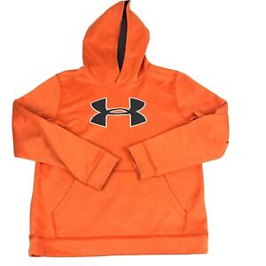 UNDER ARMOUR Hoodie Youth Orange YLG JG Long Sleeve Pullover Embroidered