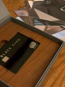 BLACK CARD MASTERCARD (Like American Express AMEX CENTURION Metal/Steel Credit)