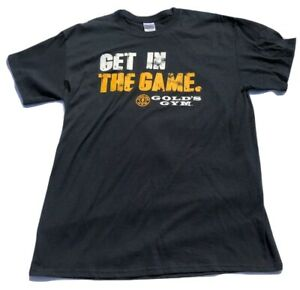 Golds Gym Get In The Game Large Black Shirt $24.99