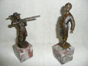 Rare and wonderfully detailed pair of German bronze sculptures $795.00