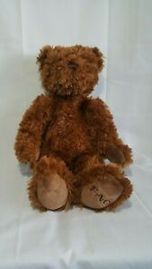 FAO Schwarz Bear Plush Toys R Us 2010 Dark Brown 10 Sitting 15 $14.99