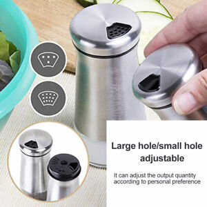 Durable Salt and Pepper Shakers Set with Adjustable Holes Home kitchen Tool