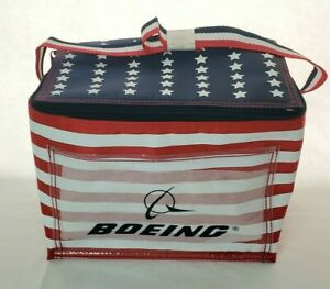 Boeing Cooler Lunch Bag Red White & Blue Promotional Item New In Plastic