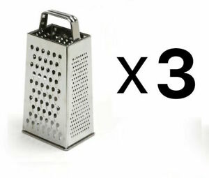 4-Sided Stainless Steel Box Cheese Carrot Food Grater 9.25