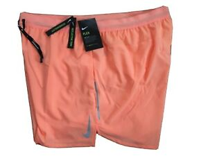 $45 NEW Mens Nike Flex Stride 5 Lined Running Shorts Orange AJ7777 892 XXL 2XL $33.62