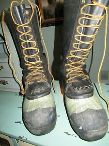White's Snow Boots Size 12 Mens ( Steel Toes ) Hunting ELK Spokane Durable