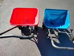 EarthWay 2050 Broadcast Commercial Push Spreader Red used twice on small lawn