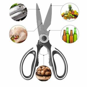 Professional Pampered Chef Kitchen Shears Scissors Stainless Steel Meat Chicken.