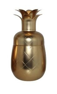 Gold Pineapple Martini Cocktail Shaker - Eco One: Silver One