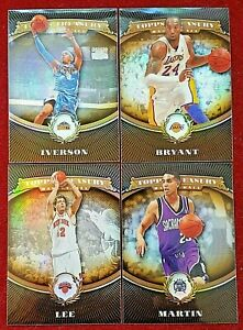 2008 09 Topps Treasury Bronze Silver Gold Refractor Iverson Bryant Ming PSA Paul